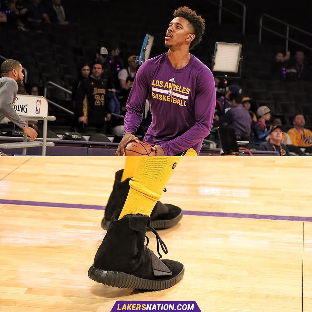 Nick Young Plays in the 'Black' adidas Yeezy 750 Boost (1)