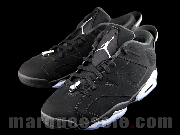 air jordan 6 low black metallic silver release date