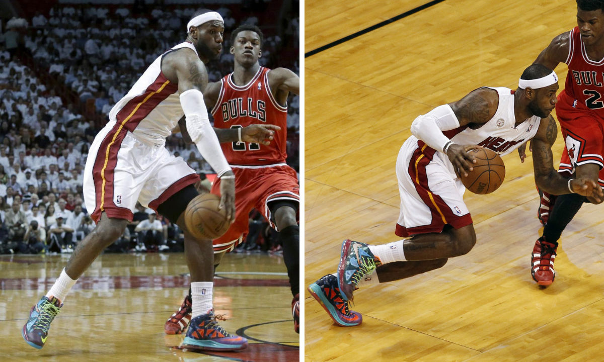 LeBron James wearing Nike LeBron X What the MVP (10)