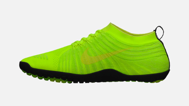 Nike Free Hyperfeel in Volt Black Electric Yellow and Electric Green medial