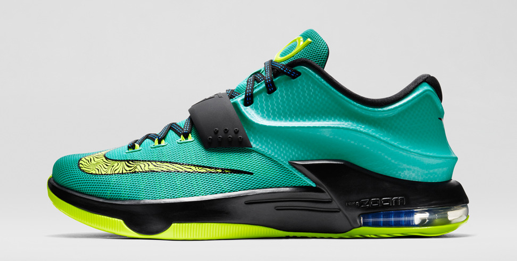 Hot On Sale Nike KD 7 Cheap sale Black Lightning Uprising