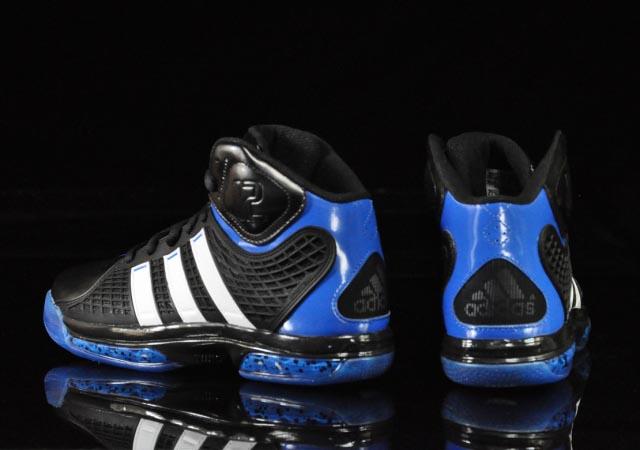 buy online 0b9c5 eab7e ... adidas adiPower Howard Orlando Away Black White Blue G20282 Heel adidas  adiPower Howard Black Running White Bright ...