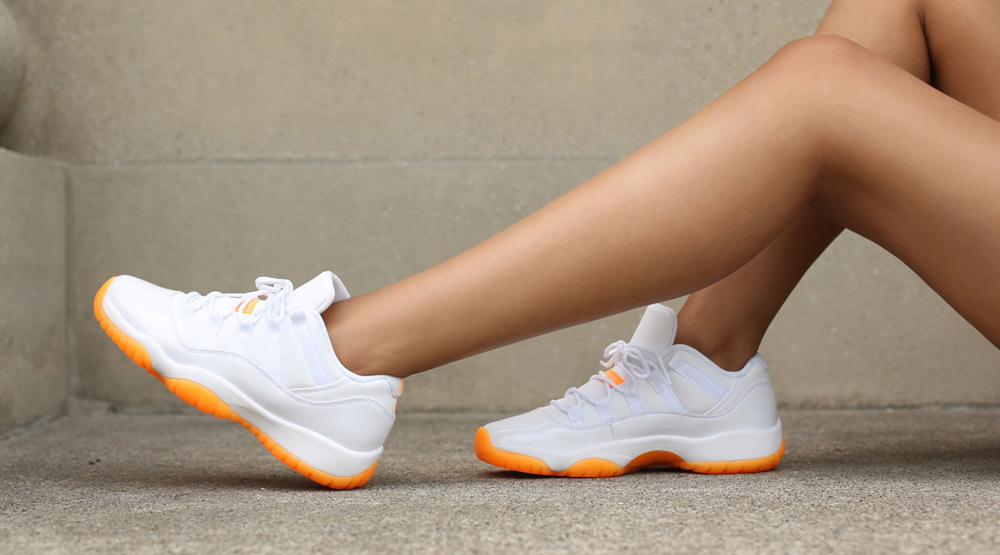official photos 9da0f 215a5 Images via Awol. by Brendan Dunne. The Air Jordan 11 Low  Citrus  ...