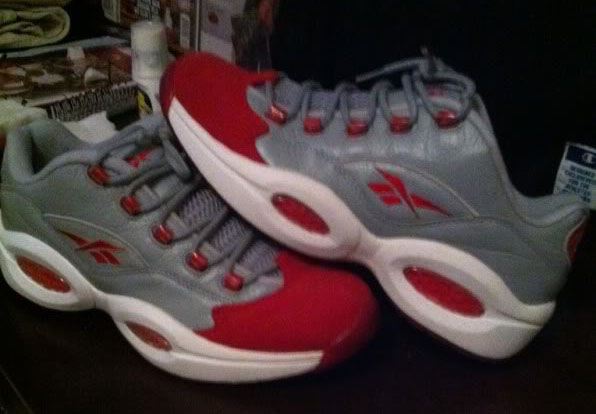 Reebok Question Low Grey Red Suede