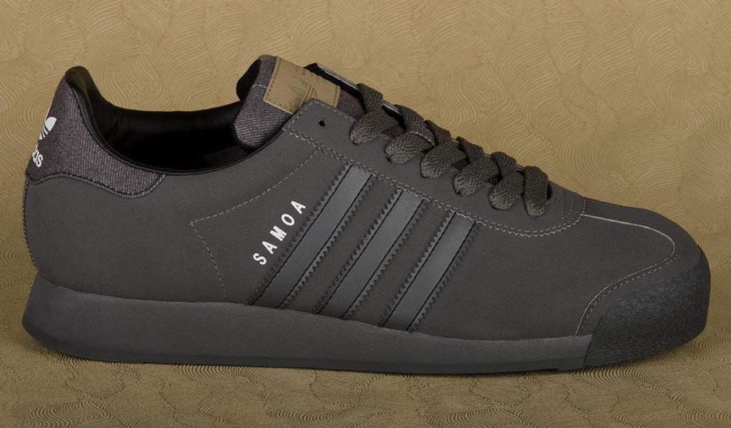 black and grey adidas samoa
