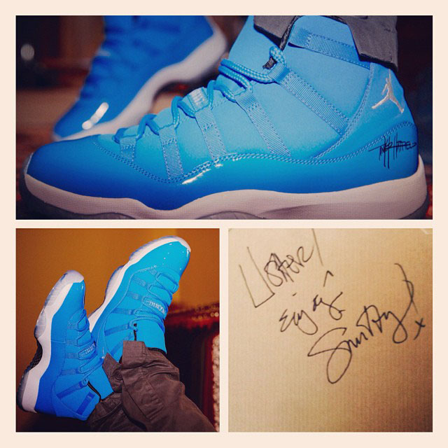 Usher Receives Pantone Air Jordan 11 XI From Tinker Hatfield & Mark Smith