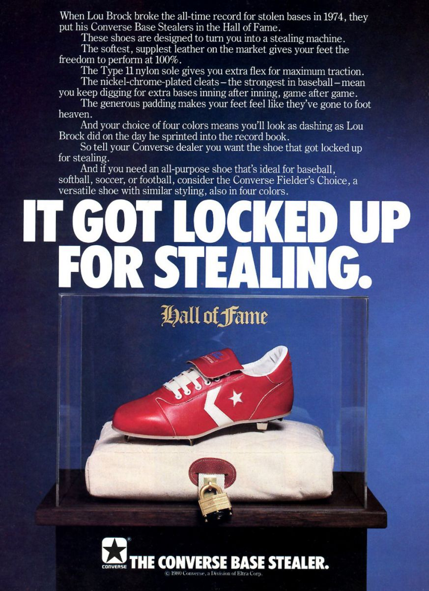 Vintage Ad: Converse Base Stealer Cleat | Sole Collector