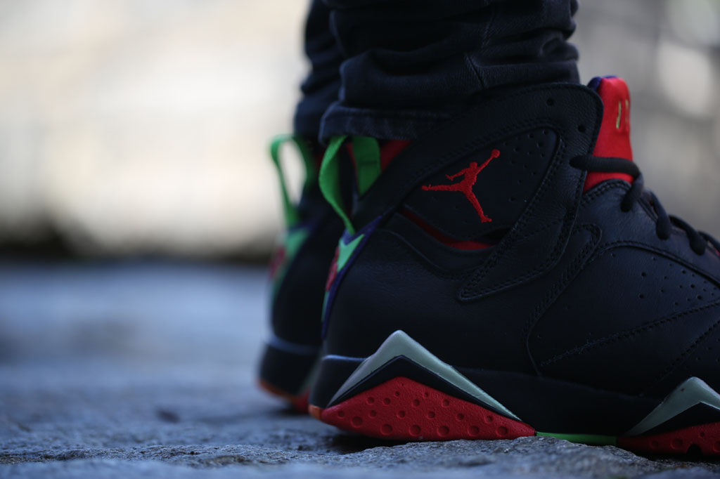 fea3dc1c99d Air Jordan 7 Marvin the Martian On-Foot 304775-029 (4)