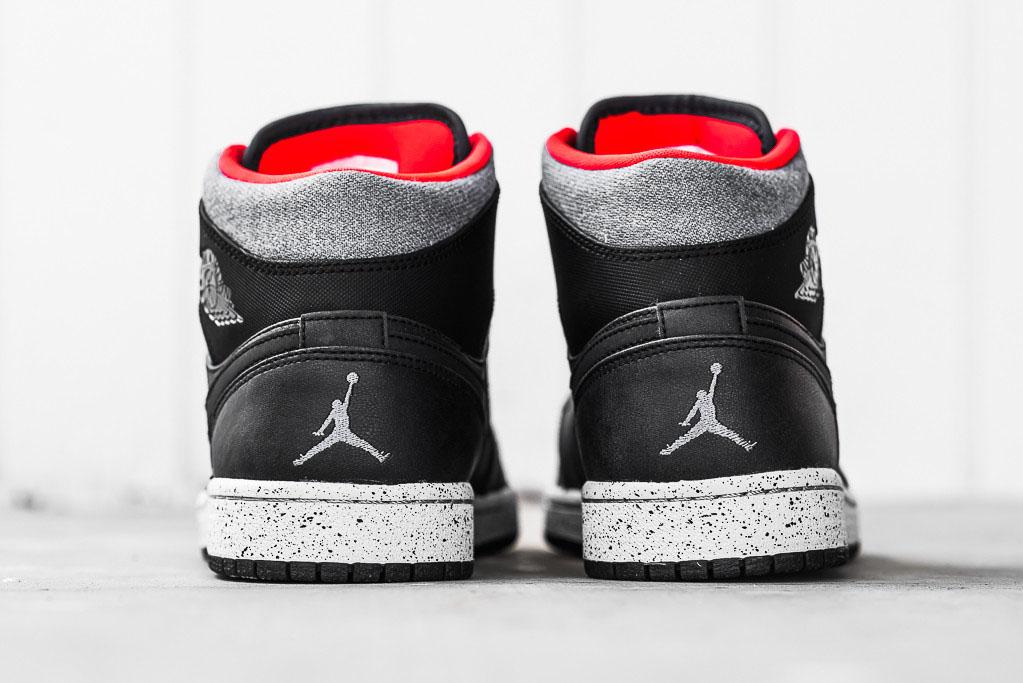 Air Jordan 1 Mid Winter Black Grey-Infrared (7) a57297239
