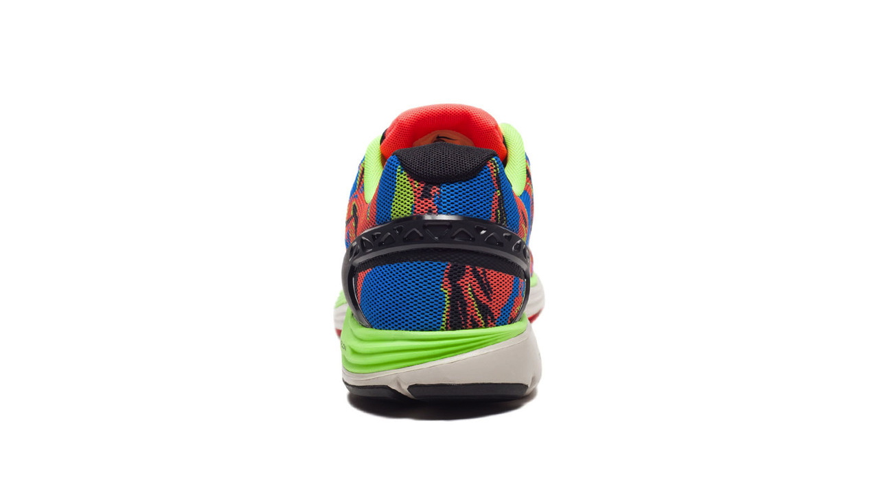 edbec578bd46 The Nike LunarGlide+5 EXT in Blue Hero   Atomic Red   Flash Lime is  available now at select retailers