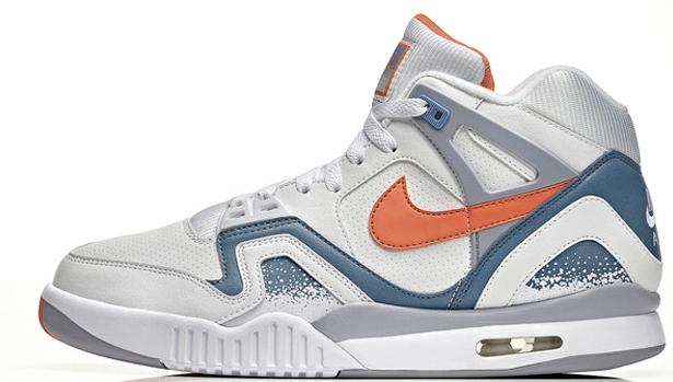 Nike Air Tech Challenge II QS White/Orange Burst-Clay Blue-Flat Silver
