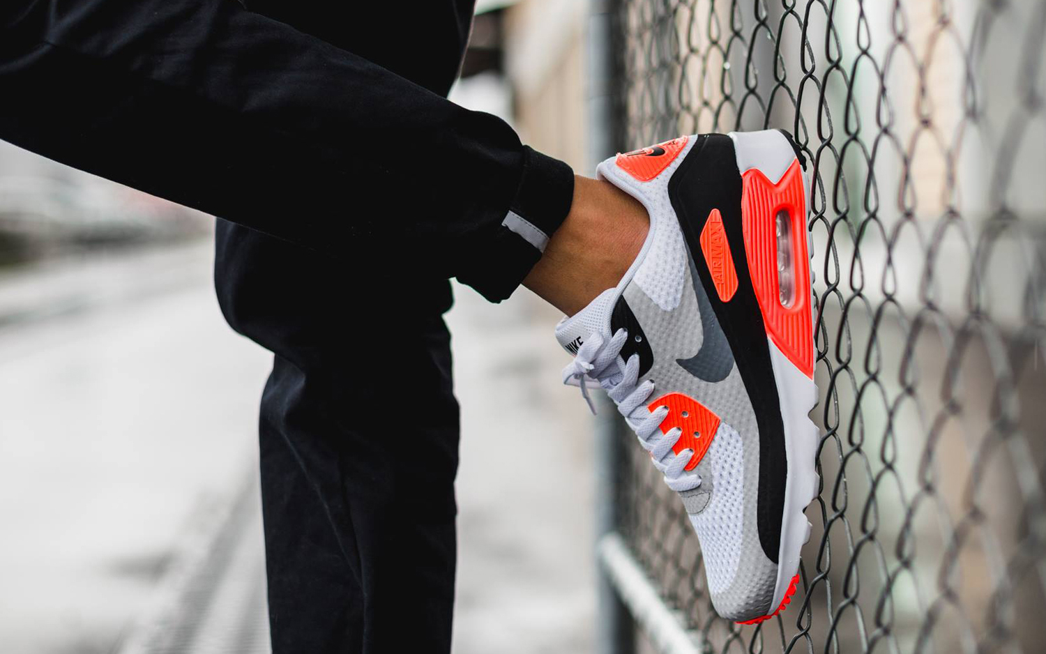 "Nike Air Max 90 Ultra Essential ""Infrared"" Color: WhiteCool"