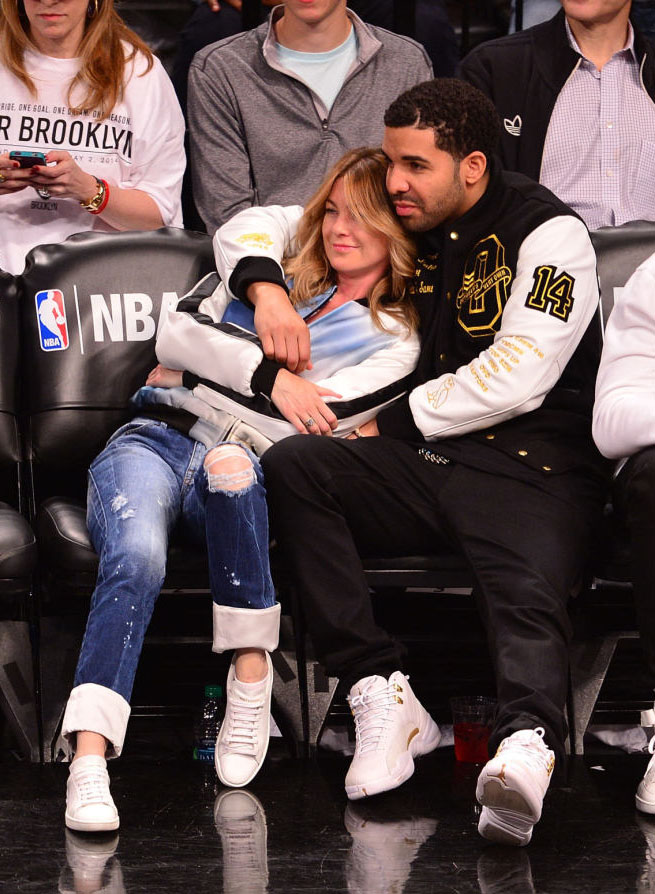 Drake Wearing White 'OVO' Air Jordan 12 (8)