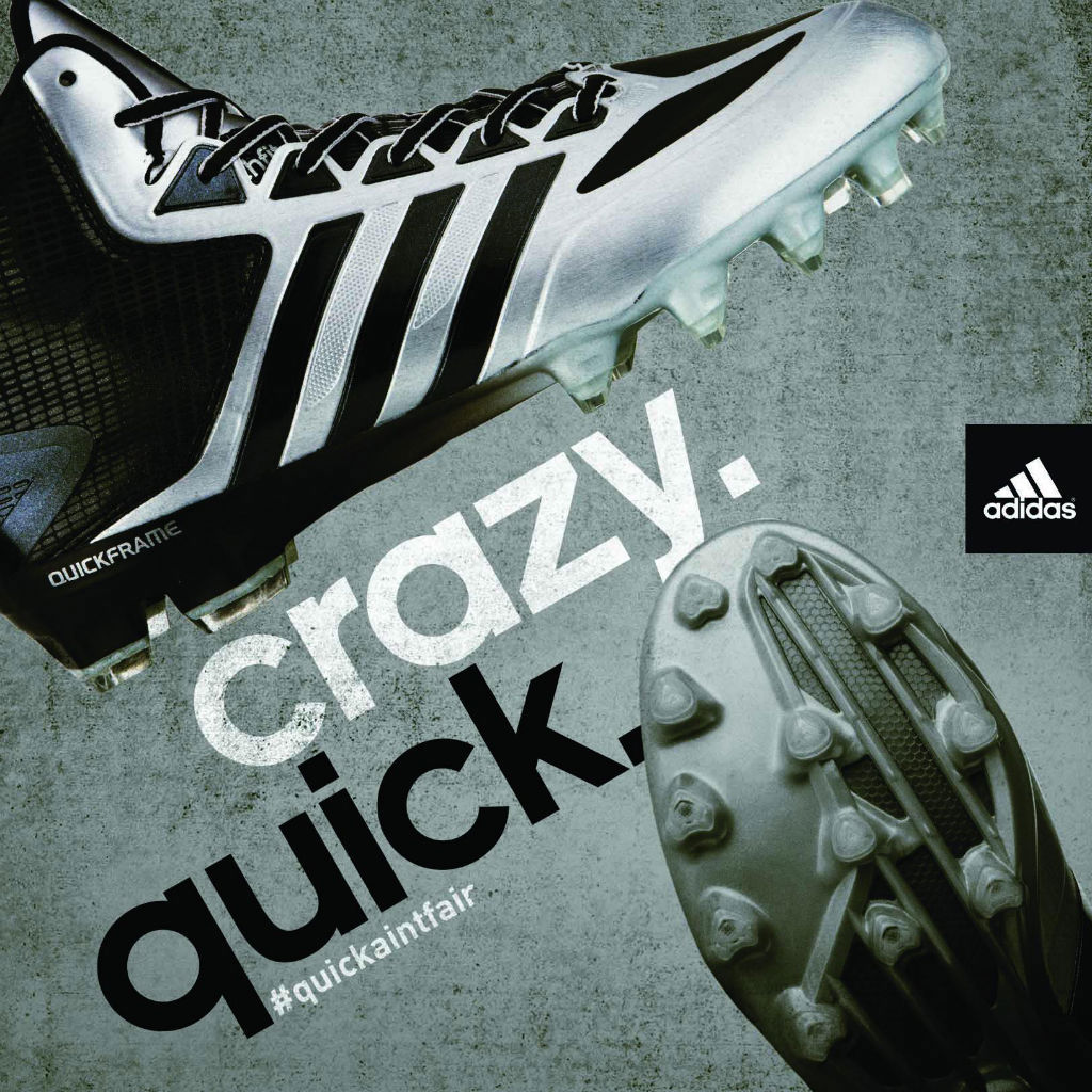 adidas Crazyquick Cleats Silver