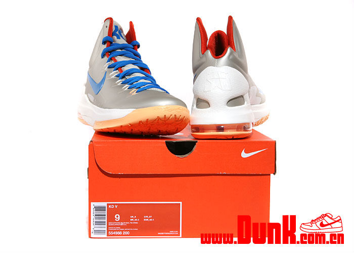 Nike KD V Birch Photo Blue Sail Team Orange 554988-200 (6)