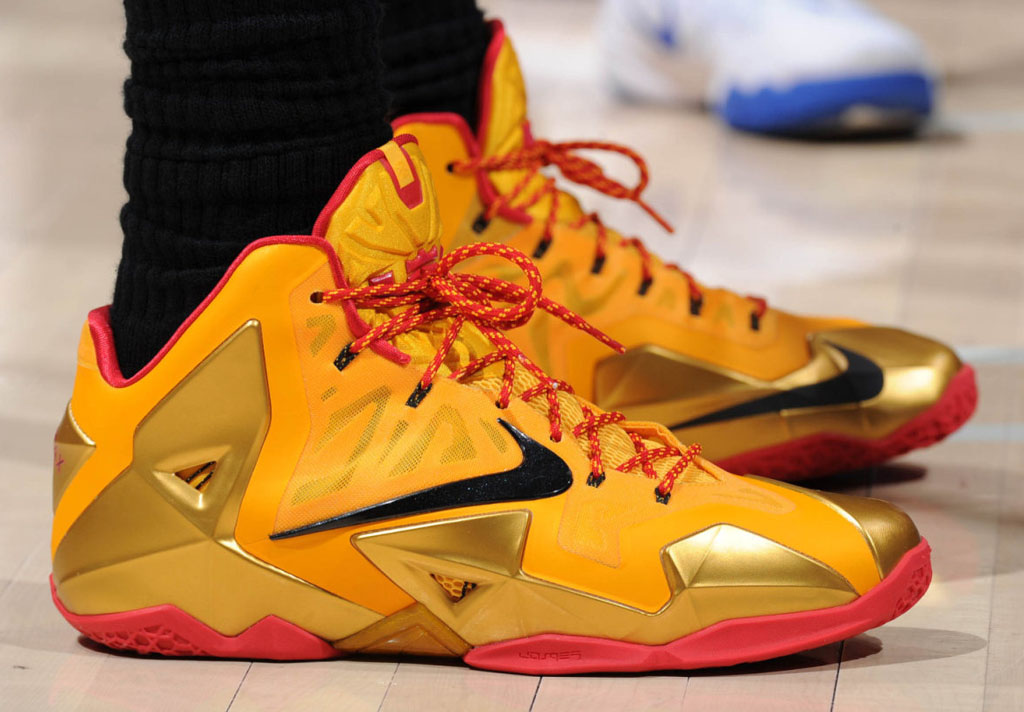 LeBron James wearing Nike LeBron 11 Fairfax PE