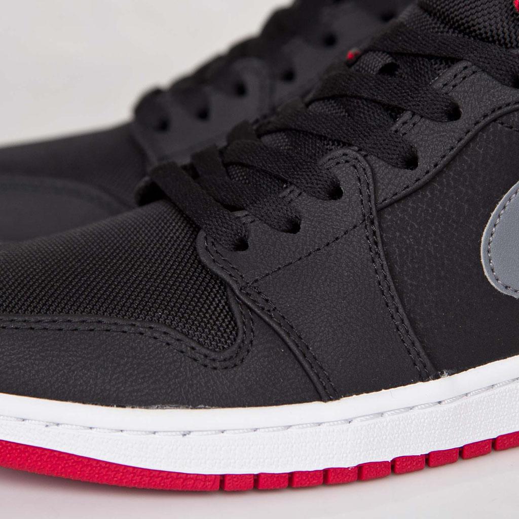 detailed look 3d06f 59f45 Air Jordan 1 Mid Black Cool Grey-Gym Red 554724-004 (6