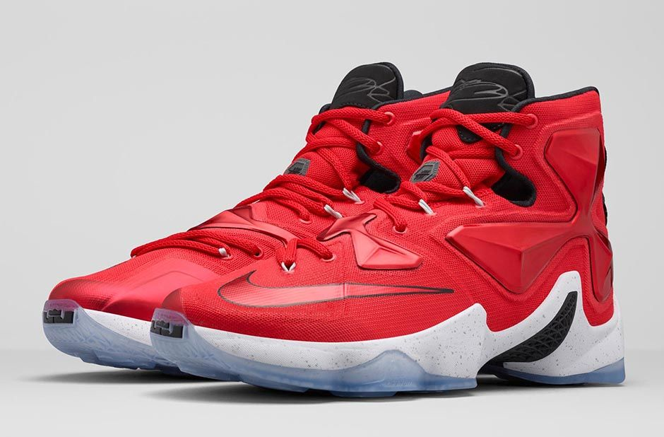 Lebron Red And White Shoes