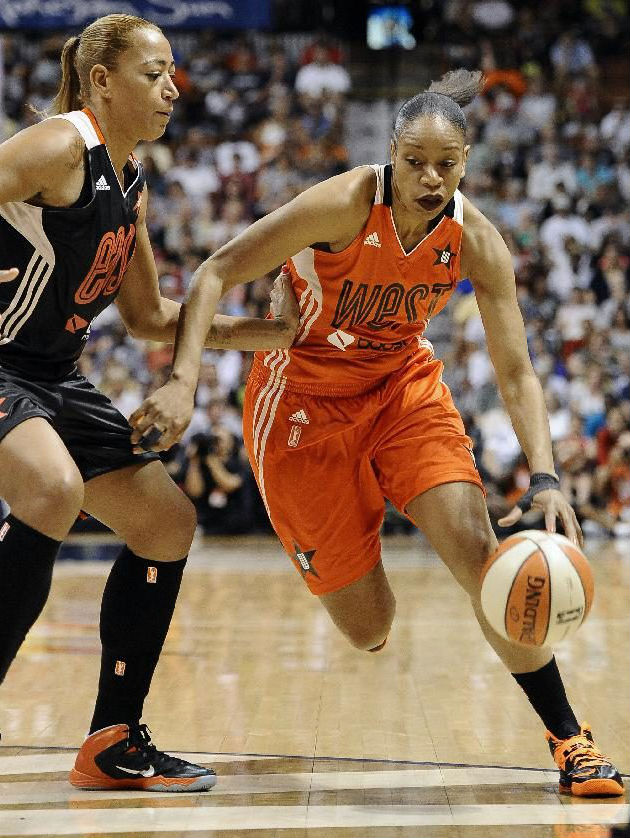 Tina Thompson wearing Nike Zoom Soldier VII All-Star PE