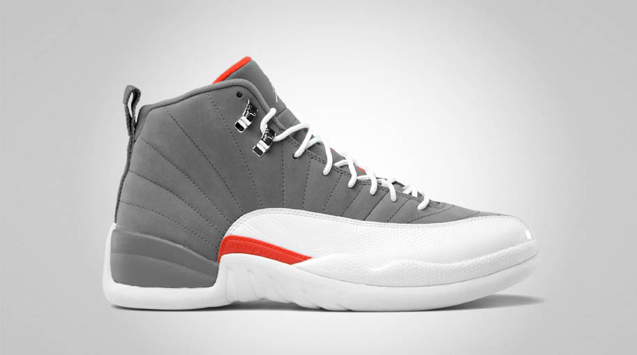 7549dbe4bfd Air Jordan Retro 12 - Cool Grey/White-Team Orange - Official Photos ...