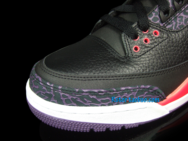 Air Jordan III 3 Black Crimson Purple 136064-005 (9)
