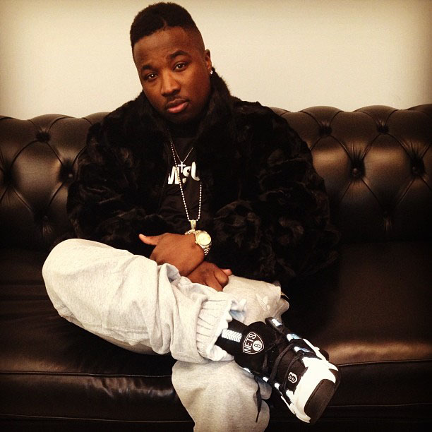 Troy Ave wearing adidas Crazy 8 Brooklyn Nets