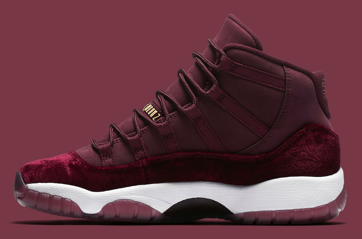 20d700167cdc61 Air Jordan 11 GG Red Velvet Heiress Release Date Medial 852625-650