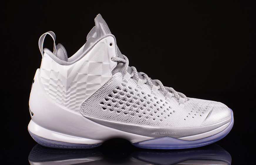 ba39e93bf8e2c9 02 07 15 Jordan Melo M11 AS 716639-106 White Metallic Silver-Pure Platinum- Retro  160.00