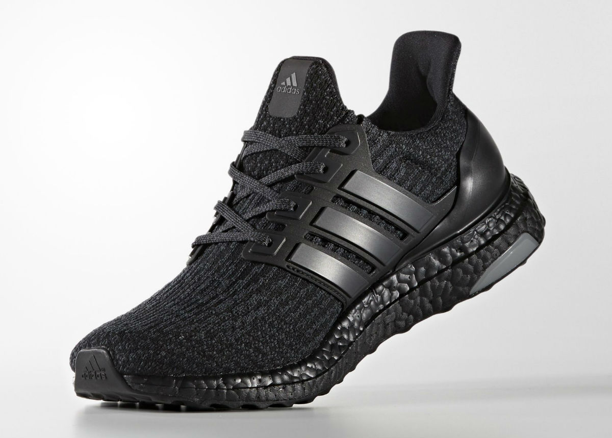 buy online 225df e4ebc Adidas Ultra Boost 3.0 Triple Black Medial BA8920
