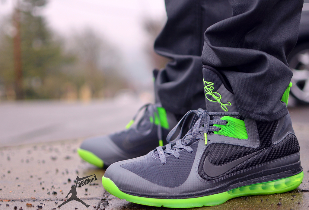 0e53fed6f3e2 ... spain nike lebron 9 dunkman on feet 8ed82 fa836 ...