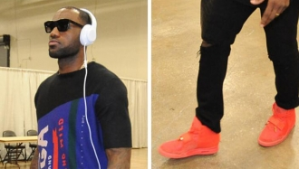 LeBron James Wears 'Red October' Nike Air Yeezy 2 to Game ...