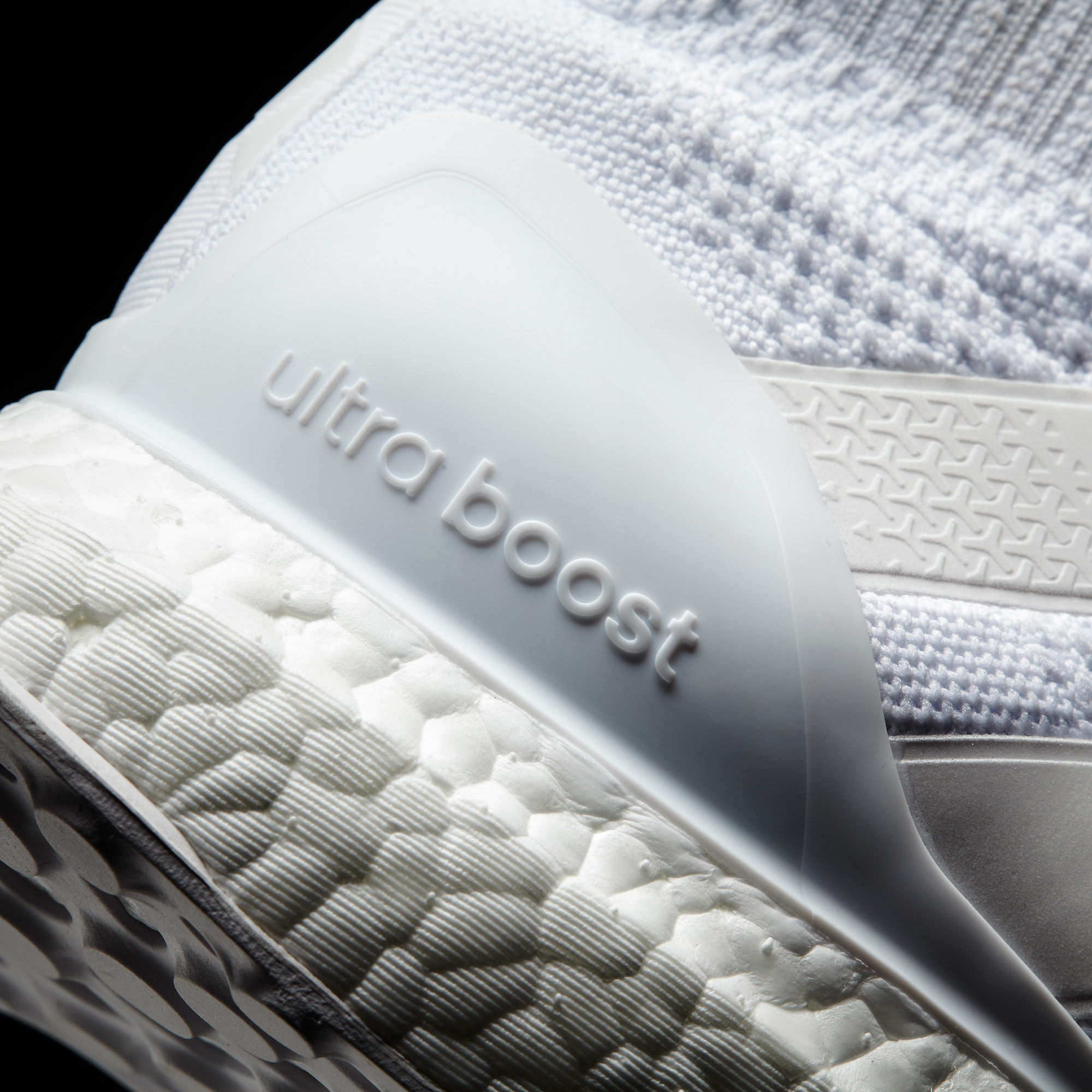 Adidas Pure Control Ultra Boost Triple White Heel Detail