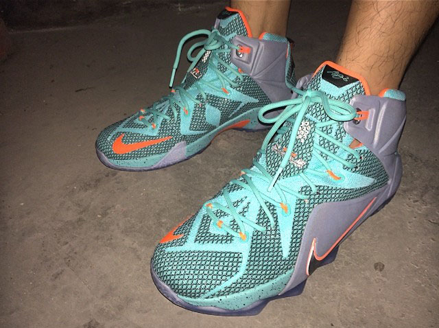 Nike LeBron XII 12 Teal/Grey-Orange Sample (23)