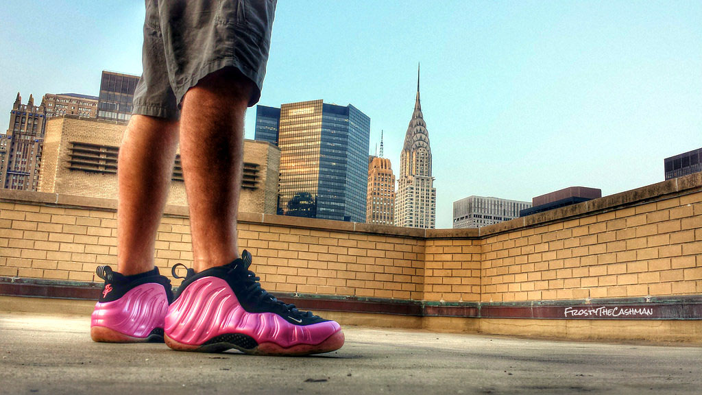 FrostyTheCashman in the 'Pearlized Pink' Nike Air Foamposite One
