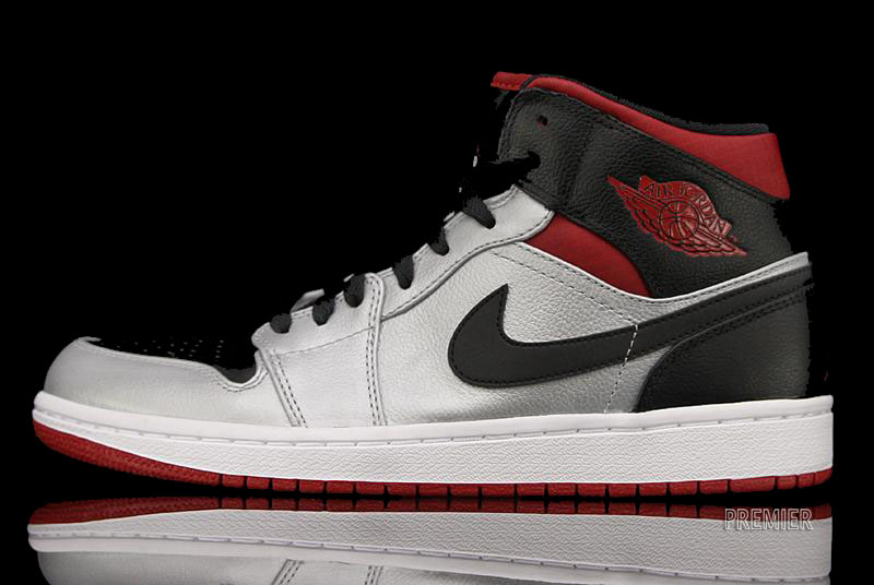 air jordan 1 phat mid metallic platinum/black-gym red