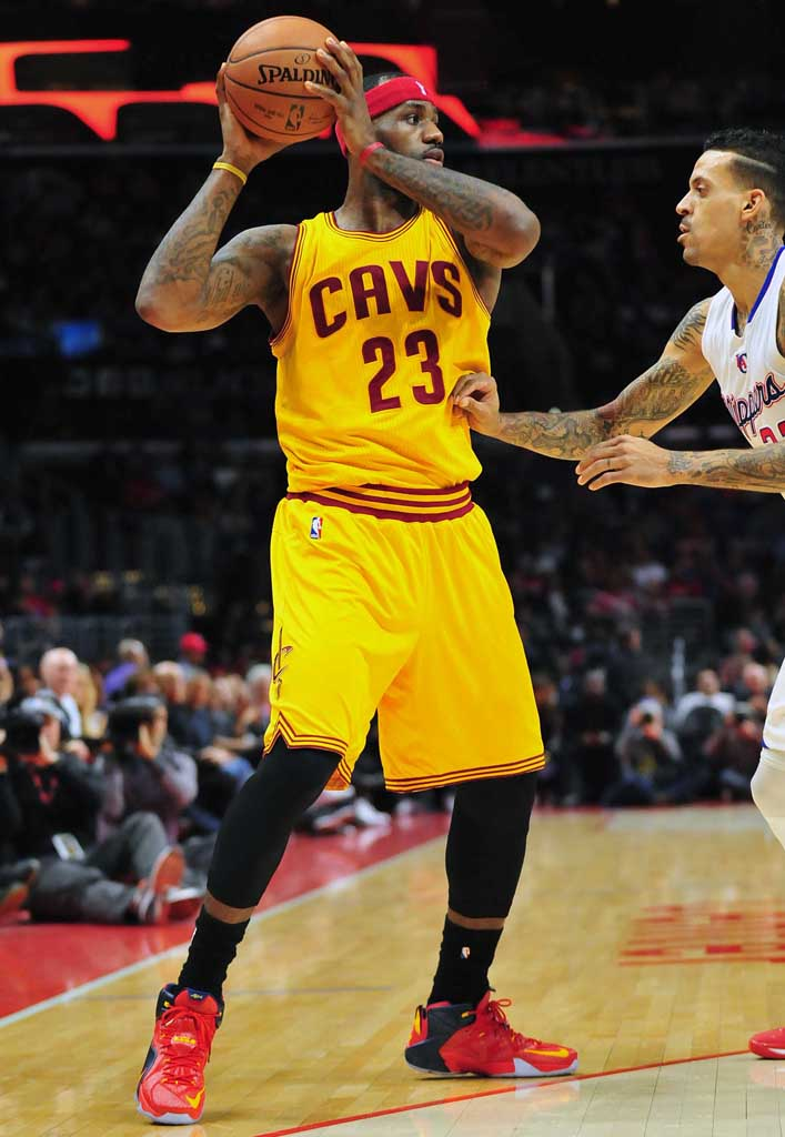 385942effbb1d SoleWatch  LeBron James Makes History in a New Nike LeBron 12 PE ...