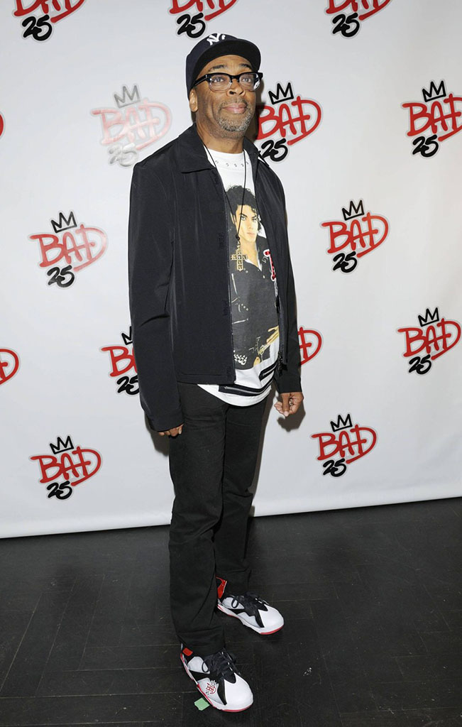 Spike Lee wearing Air Jordan VII 7 Bad 25 by Van Monroe (3)