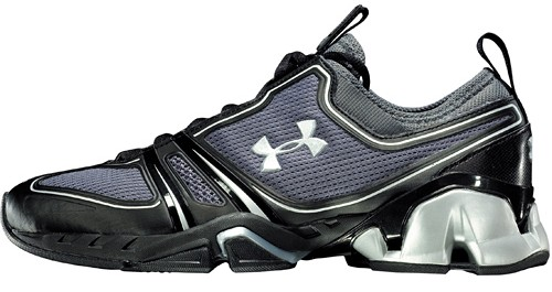 The Rock wearing Under Armour Proto Speed Trainer