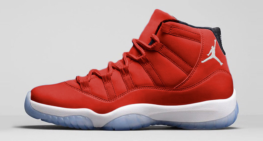 all red jordan 11 shoes