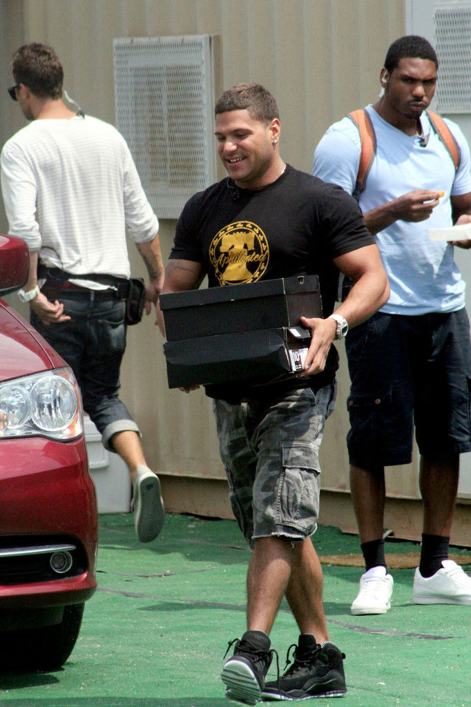 Ronnie Ortiz-Magro wearing Air Jordan X 10 Stealth