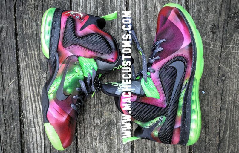 Nike LeBron 9 IX Spawn by Mache Custom Kicks (1) ...