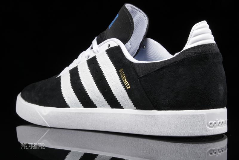 save off ee195 6c415 adidas Skateboarding presents a clean and classicblack and white colorway  for the unseemingly techy Busenitz ADV.