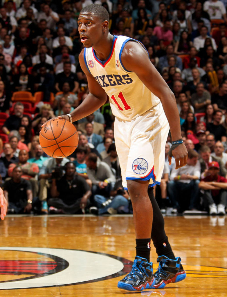 Jrue Holiday wearing adidas Top Ten 2000 Rivalry Pack