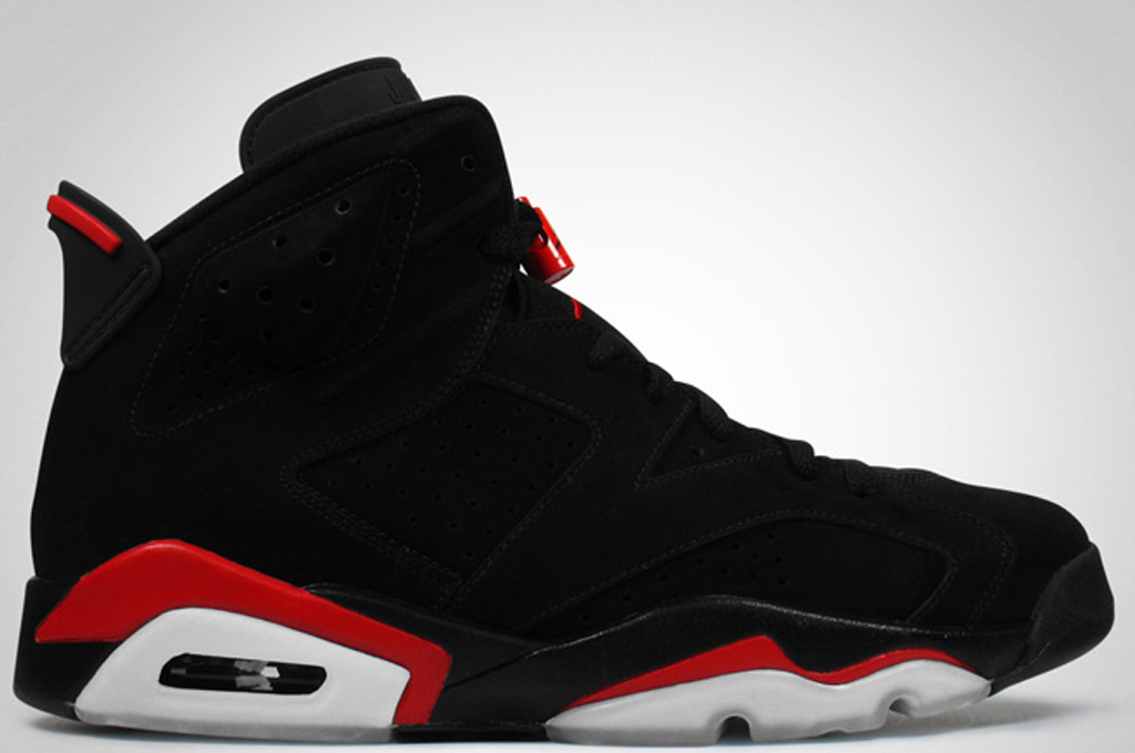 Air Jordan 6 Vi Rétro Infrarouge Fac Noir 6s Rouge