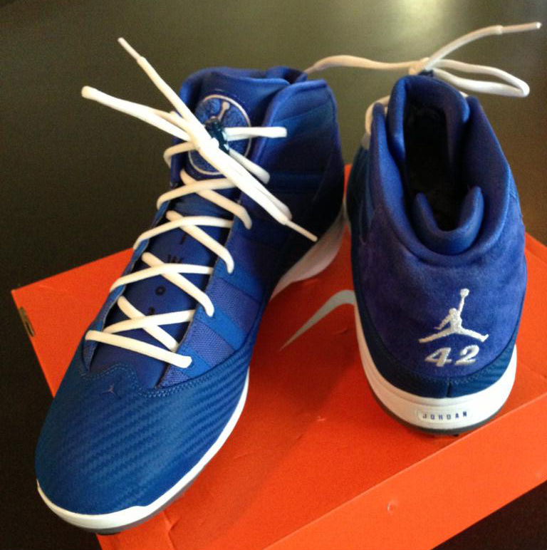 731e8b763c52 Jordan 6 Rings - Jackie Robinson Day PE Cleats | Sole Collector