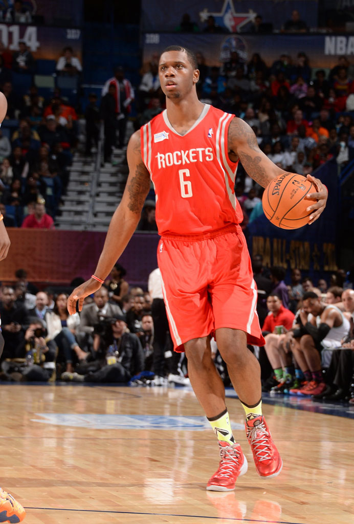 Terrence Jones wearing Nike Hyperdunk 2013 PE