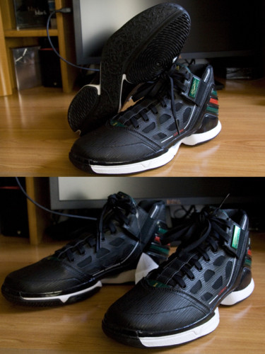 adidas adiZero Rose 2.0 - Black/Forest Green/Red G23691
