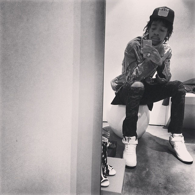 Wiz Khalifa wearing Nike Air Force 1 Mid