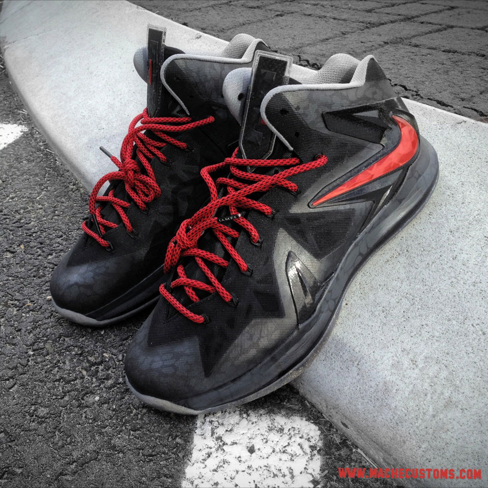 "Nike LeBron X PS Elite ""Killer Elite"" by Mache Custom Kicks (2)"
