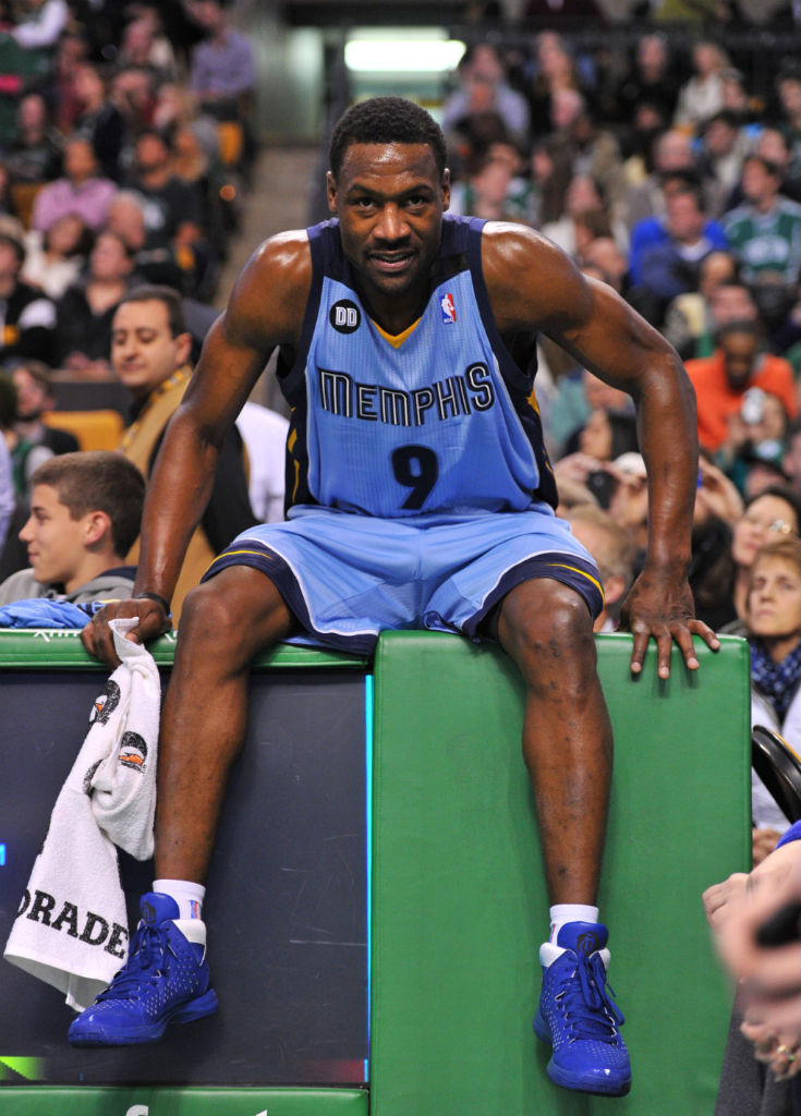 Tony Allen wearing miadidas Rose 3